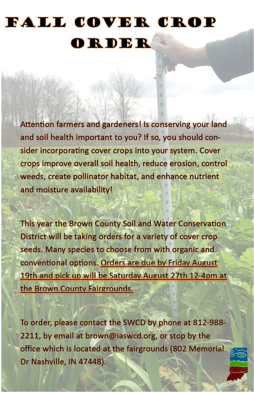 Fall Cover Crop Order Flyer