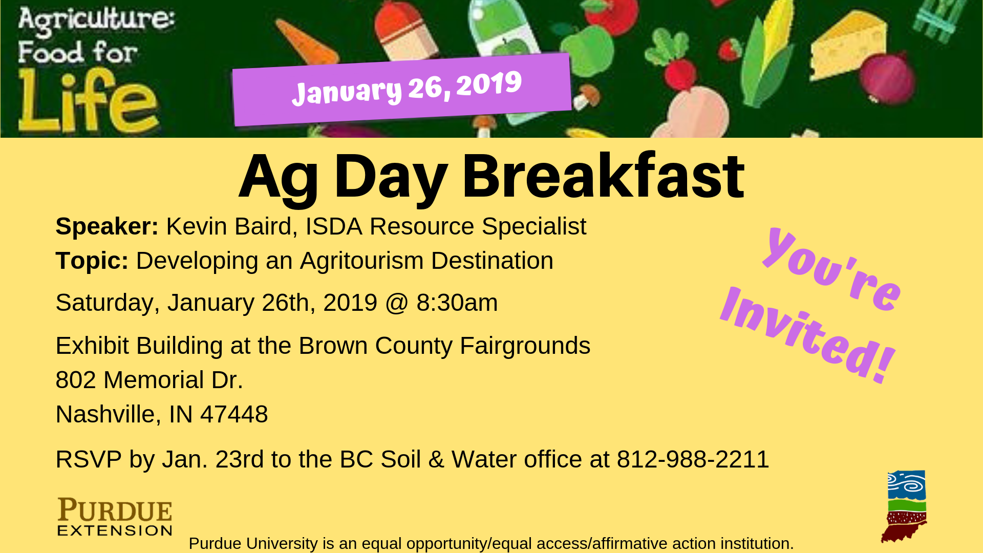 Upcoming Event: Ag Day Breakfast – Brown County Soil ...